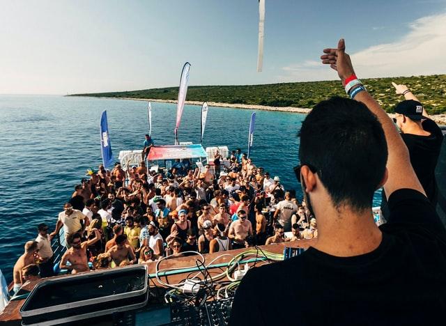 Lustrumreis Kroatie Boat Party